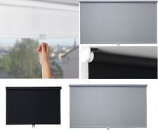 FABRIC BLACK OUT LUXURY ROLLER BLIND ACRYLIC PLASTIC COATED POLYESTER CORDLESS
