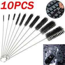 Nylon Brush Straw  Cleaner Bottle Test Tube Pipe Cleaning Long Handle 10PCS