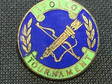Vintage Enamel Sports Badge Pin APOLLO ARCHERY TOURNAMENT Fattorini Birmingham