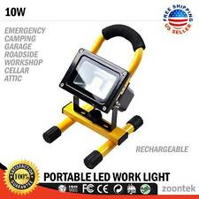 10W Rechargeable LED Flood Work Light Portable Caravan Camping Emergency Lamp