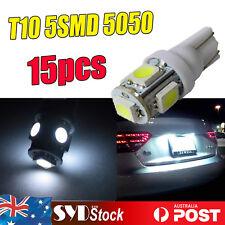 15 x White 192 904 T10 5LED 5050 Led Light Corner Dome Map License Plate Lights
