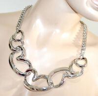 COLLAR mujer plata anillos corazones elegante Saint Valentin collaret colier G22