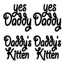 4pc Temporary Tattoo Yes Daddy Daddy's Kitten Dom Sub Switch S&M Kinky Stuff