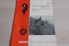 144239) Rabewerk Drehpflug - Goldammer C 3 F - Prospekt 03/1961