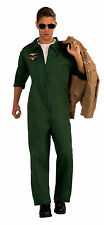 AVIATOR JUMPSUIT GREEN TOP GUN ADULT HALLOWEEN COSTUME SIZE STANDARD