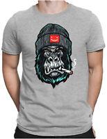 Angry Ape Herren Fun T-Shirt - Affe Hipster Gorilla Sailor Captain - PAPAYANA