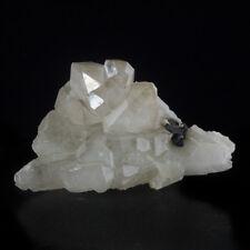"6"" Sharp Lustrous TIN CASSITERITE Crystals on Clear QUARTZ Brazil for sale"