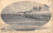 Pier At Ventura, California Steamboats 1905 Vintage M. Rieder Postcard