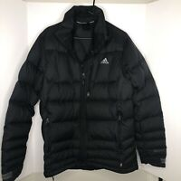 Adidas Mens Hiking Climaheat Insulated Black Jacket Medium Primaloft No Hoodie