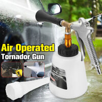High Pressure Air Pulse Car Cleaning Gun Surface Interior Exterior W/ Brush Foam