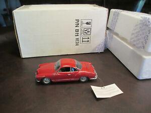FRANKLIN MINT 1967 VW KARMANN GHIA 1:24 SCALE WITH BOX