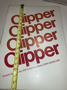 Clipper Clip Art Book Dynamic Graphics 1980 12 Months Good Condition