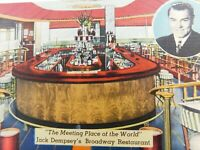 Meeting Place Of The World Jack Dempsey's Restaurant NY Linen Vintage Postcard