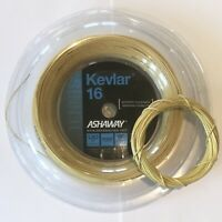 ASHAWAY KEVLAR 16 TENNIS STRING - 1.30MM 16G - ONE 6M HYBRID SET - GOLD RRP £15
