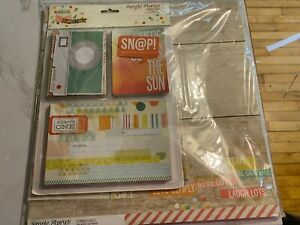 Simple Stories, Summer Vibes, Scrapbooking Kit, Lots of Embellishments