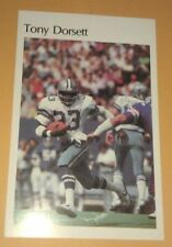 cd7dacfcf4dfa Tony Dorsett 1982 Sears Roebuck Dallas Cowboys Mini-Poster RARE! 5 1 2
