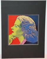 Andy Warhol - Portraits of Ingrid Bergman HERSELF #22