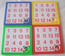 Neuf 4 colourful coulissant numéro jeux casse-tête pour party loot bags jouets remplissage tb