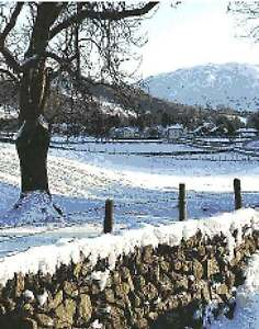 """Winter Fells"", Lake District. 14 count cross stitch Kit"