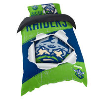 NRL Doona Quilt Cover With Pillow Case - Canberra Raiders - All Sizes - Bed