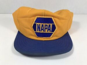 NAPA Louisville MFG Snapback Hat Yellow and blue Vintage  Patch Cap