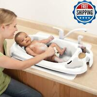 Bathing Infant Child Toddler Bath Tub Newborn Shower Anti Slip Safety Kids White