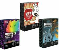 Unstable Unicorns Expansion Packs NSFW Card Game 3 NEW BOXES US STOCK Fast ShipN