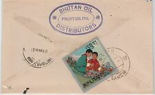 BOY SCOUTS / OIL PETROL --- BHUTAN -  POSTAL HISTORY - COVER 1968