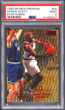 1998 1997 Skybox STAR RUBIES #d 21/50 Dennis SCOTT PSA 9 PMG Exquisite POP 1/1