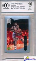 1998 Upper Deck #46 Michael Jordan Sticker BECKETT 10 MINT Bulls HOF