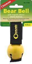 BEAR BELL YELLOW INCLUDES SILENCER, REPELS MANY UNWANTED PREDITORS, KEEP SAFE!