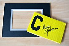 ANDY GORAM HAND SIGNED CAPTAINS ARMBAND & free mount display PROOF RANGERS & COA