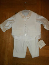 BABY BOYS LITTLE DARLINGS CHRISTENING/WEDDING OUTFIT 3 MONTHS 121013