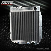 62mm Aluminum Race Cooling Radiator For 64-66 FORD MUSTANG V8 L6 MT/AT
