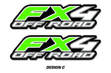 """FX4 Off Road Truck Bed Decal Set For Ford F150 Raptor Stickers 15""""X4"""" GREEN"""