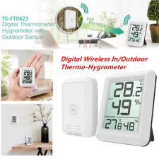 433 MHz Digital Wireless Indoor Outdoor Thermo-Hygrometer Humidity Meter White