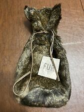 Nwt Restoration Hardware Faux Sable Fur Wine Gift Bag