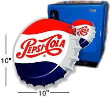 "10"" ANGLED PEPSI CAP FOR SODA POP VENDING MACHINE COOLER OR GUMBALL"