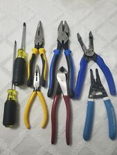 Klein Tools pliers, strippers And Cutters Set of 8 Pieces brand new