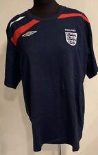 England Rugby Team Tee Shirt T Umbro World Cup Blue Red Official Jersey 2XL XXL