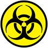 TOXIC SYMBOL CAR VAN LORRY VINYL SELF ADHESIVE STICKERS