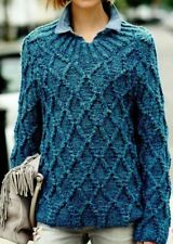 "299 LADY'S TEXTURED JUMPER SUPER CHUNKY KNITTING PATTERN SIZES 30-48"", 76-122cm"