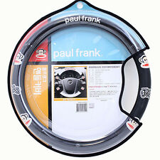Paul Frank Car Steering Wheel Cover Faux Leather Carbone Grip Auto Accessory