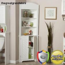 Storage Corner Wall Cabinet Display Furniture Organizer Shelves Kitchen Closet