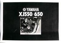 YAMAHA XJ550 & XJ650 Motorcycle Sales Brochure 1981 -#LIT-3MC-0107509-81