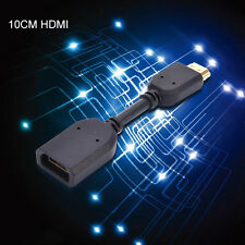 10CM / 3.94in Gold Plated MINI HDMI Extension Cable Extender Male to Female Cord