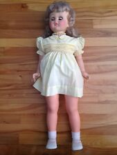 vintage 31 inch plastic female baby doll