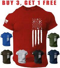 American Flag USA T-shirt Patriotic T Shirt Military Veteran Style tee Shirt