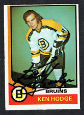 Ken Hodge #230 signed autograph auto 1974-75 O-Pee-Chee OPC Hockey Card