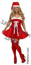 Adult Ladies Sexy Santa Baby Fancy Dress Costume Outfit Womens Christmas